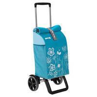 00c496b6ecd1 Сумка-тележка хозяйственая на колесах 50л ROLLING THERMO - небесно-голубая
