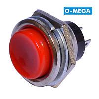 Кнопка DS-212 без фіксації OFF-(ON), червона