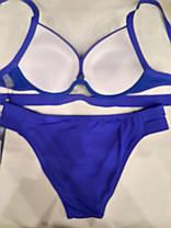 Синий купальник большой пушап Макси 63278 на 50 размер., фото 2