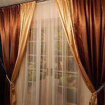 Готовый комплект штор, двухтонные., фото 3