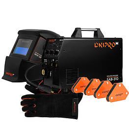 Полуавтомат инверторный IGBT MIG/MMA Dnipro-M SAB-310 + Набор сварщика