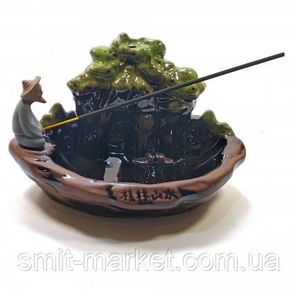 """Подставка для благовоний """"Рыбак"""" (19х12х11 см), фото 2"""