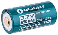 Аккум. батарея Olight 16340 с зарядным портом micro-USB