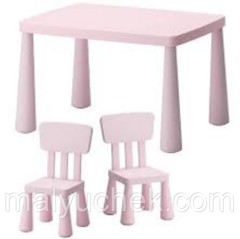 Детский стол IKEA МАММУТ светло-розовый