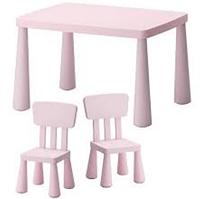 Детский стол IKEA МАММУТ светло-розовый, фото 1