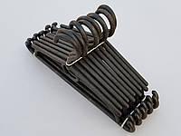 Плечики вешалки тремпеля детские черного цвета, длина 31 см, в упаковке 10 штук