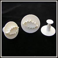 Плунжер  Лист дуба 3 шт (кнопка), фото 1