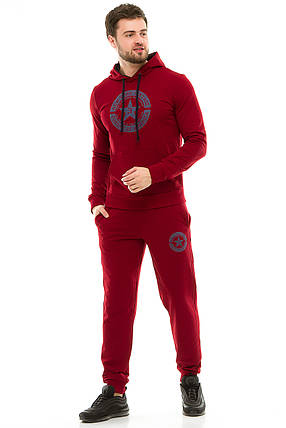 Мужской спортивный костюм 430 бордо, фото 2