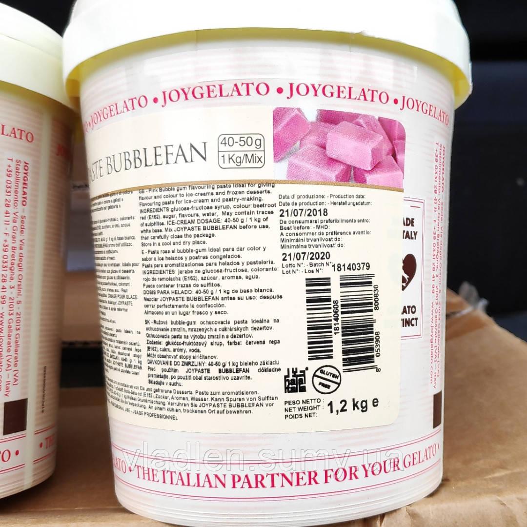 """Натуральная паста со вкусом Баблгам """"Joypaste Bublefan"""", Италия (фасовка 1,2 кг)"""