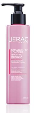 Очищающее молочко для лица и контура глаз Lierac Demaquillant Confort Creamy Fluid Cleanser Face & Eyes