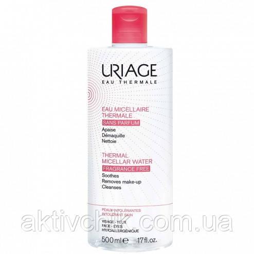 Термальная мицеллярная вода Урьяж для чувствительной кожи Uriage Thermal Micellar Water Intolerant Skin 500мл