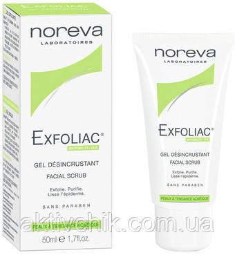Отшелушивающий гель-скраб Noreva Laboratoires Exfoliac Gel Desincrustant