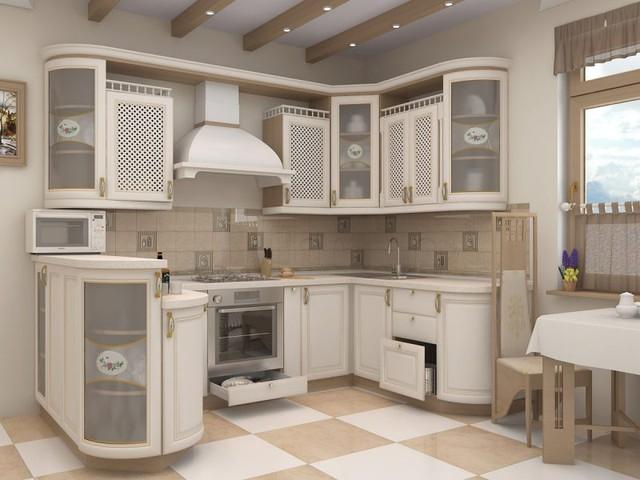 Купить кухню из дерева в Киеве, недорогие кухонные гарнитуры