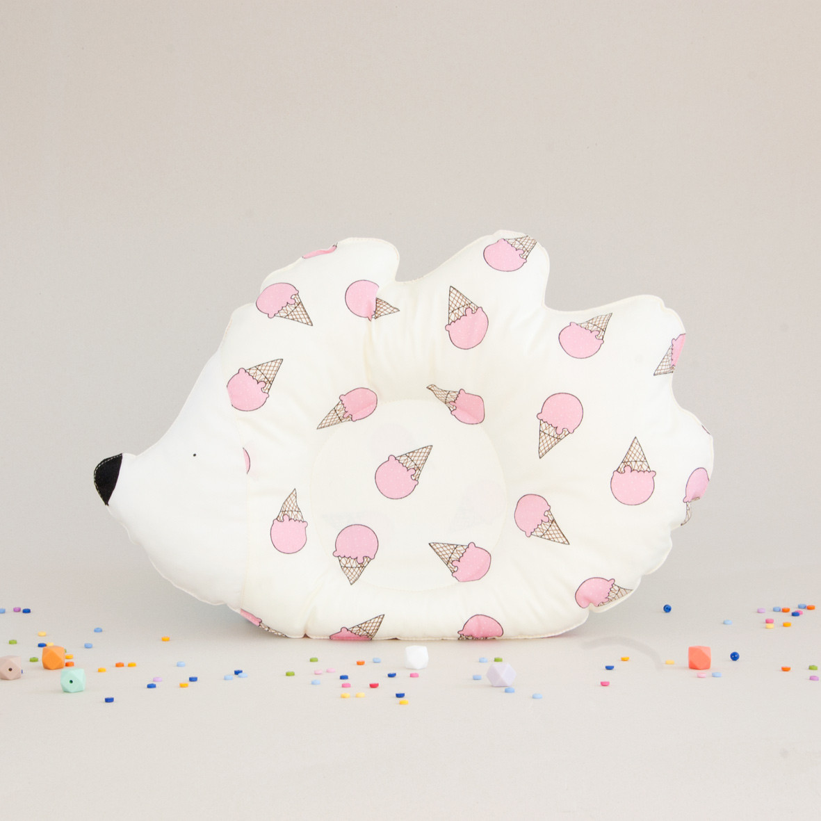"Подушка детская ""Ежик"", pink ice cream"