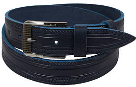 Кожаный ремень Skipper Синий (1115-40)