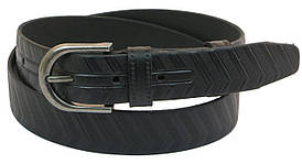 Кожаный ремень Skipper Черный (1030-33)