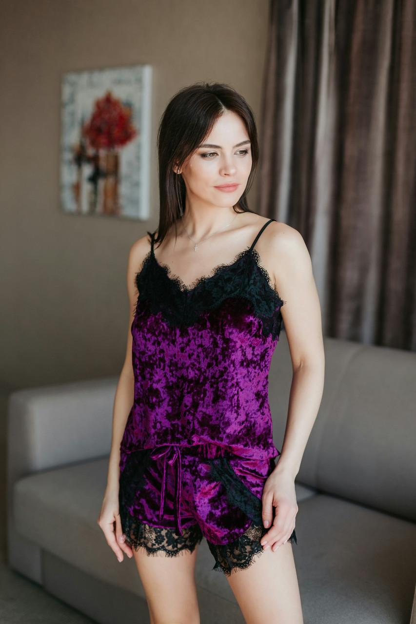 Мраморная велюровая пижама TM Orli