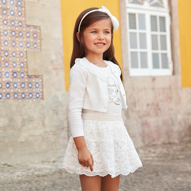 Комплект юбка и футболка, юбка из кружева