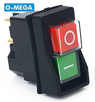 Кнопка (магнитный пускатель) к бетономешалке двойная KLD28 на 4 контакта, фото 1