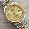 Часы Rolex Oyster Perpetual DateJust 116194 женские 37 мм серебристо-золотистые календарь линза копия