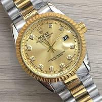 Часы Rolex Oyster Perpetual DateJust 116194 женские 37 мм серебристо-золотистые календарь линза копия, фото 1