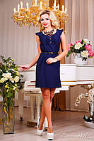 Платье 0852 темно - синий