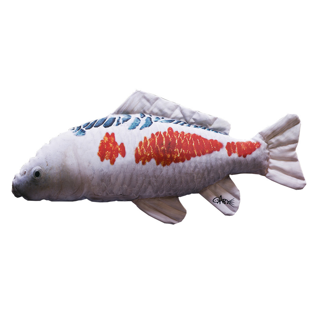 Подушка-рыба Gaby Карп Кои Черно-Красный 60х27см(3KB2011)