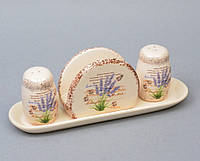 "Набор для специй с салфетницей ""Lavender"" YX248"