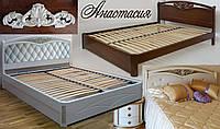 Кровать с матрасом деревянная «Анастасия»