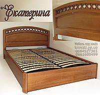 Кровать с матрасом деревянная «Екатерина»