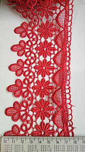 Кружево 20 метров красный. Кружево макраме цветы Турецкое с кордом