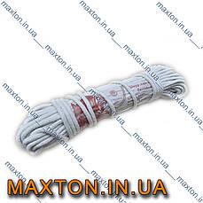 Шнур хлопчатобумажный плетёный диаметром 5 мм мотки по 20 метров