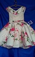 Детское нарядное платье  Стиляги Шалька 6-7 лет. Розы