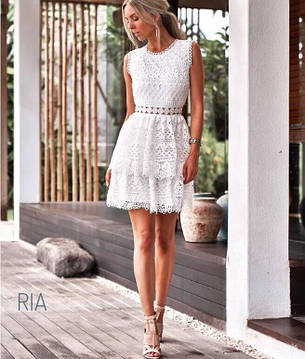 Женское кружевное платье с открытой спинкой , фото 2