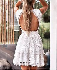 Женское кружевное платье с открытой спинкой , фото 3