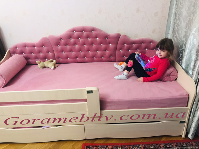 """На фото: кровать """"Л-6"""" для девочки, отзыв покупателей"""