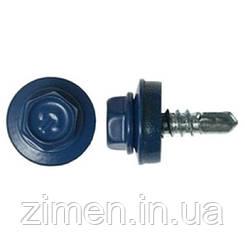 Саморіз покрівельний по металу синій RAL 5005 4,8Х19/250 шт