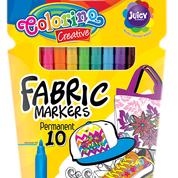 Маркеры  для рисования по ткани 10 цветов, Colorino