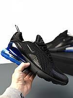 6e09edf7 Nike Air Max 270 Black Blue — Купить Недорого у Проверенных ...