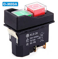 Магнитный пускатель KLD28 (кнопка) двойная на 4 контакта
