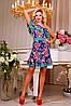 Платье 0861 синий + бирюза