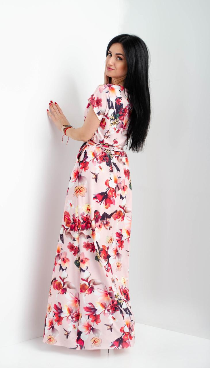 d6315c2d2ad ... Нежное и легкое платье макси с коротким рукавом размеры 44-46