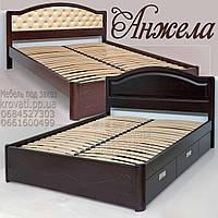 Кровать с ящиками деревянная «Анжела»