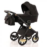 Дитяча коляска 2 в 1 Invictus V-Print Black Golden Wheels