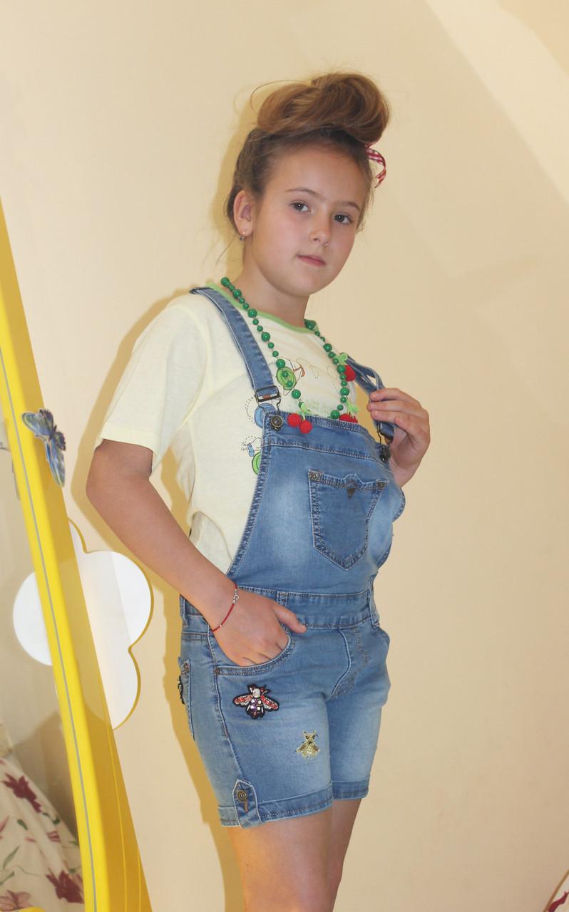 23c448534bb Комбинезон джинсовый с шортами на девочку Гуччи 8-14 лет - Интернет-магазин