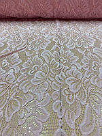 Ткань одёжная гипюр розовый, фото 1