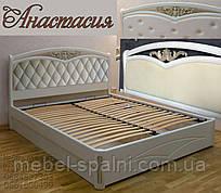 Кровать мягкая деревянная «Анастасия»
