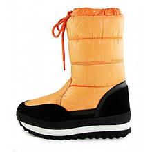 Дутики женские зимние замша оранжевые «Orange» ТМ Jose Amorales, Оранжевый, 36