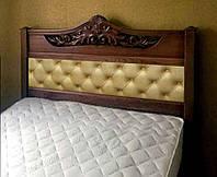 Кровать мягкая деревянная «Джесси»