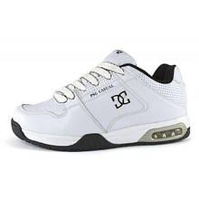 Кроссовки мужские кожаные белые Air White Casual, Белый, 42